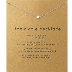 Delicate silver dot necklace